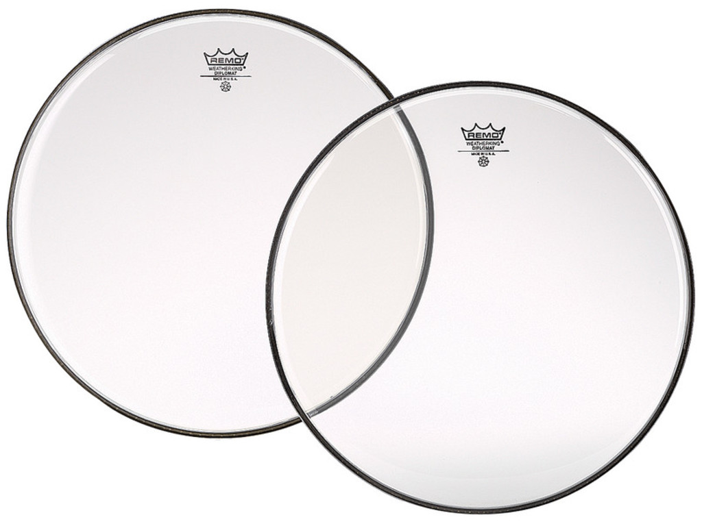 Bassdrum Vel Remo BD-0318-00, Diplomat Clear, 1-ply 18""