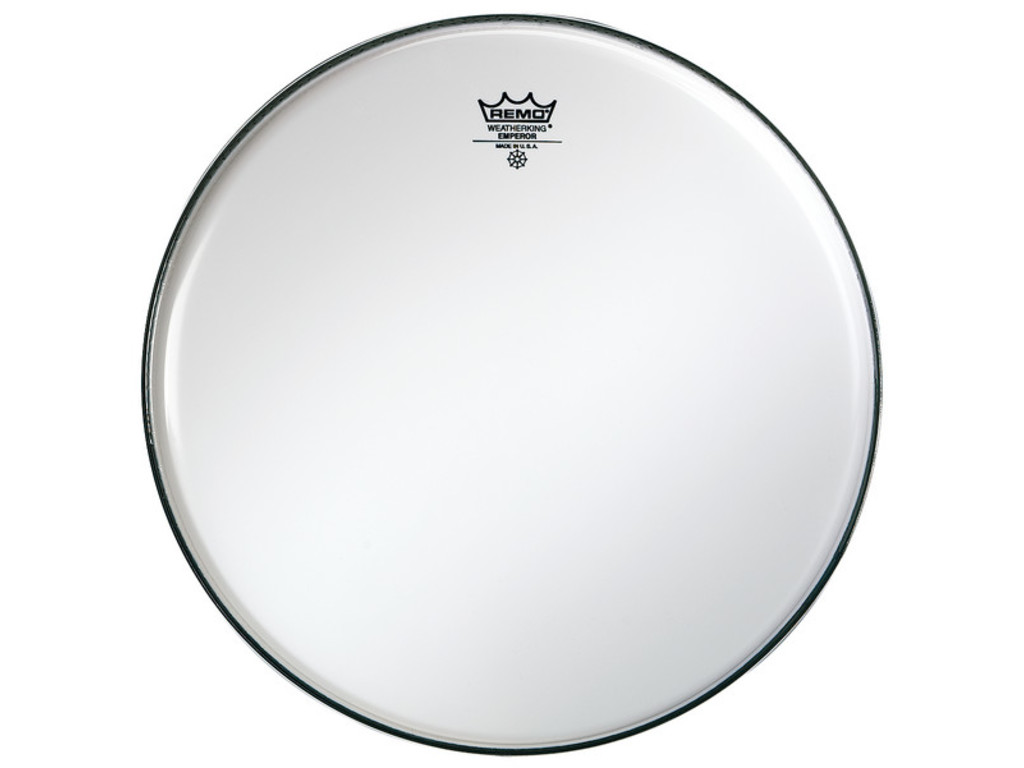 Tom / Snaredrum Vel Remo BE-0214-00, Emperor Smooth White, 2-ply 14""