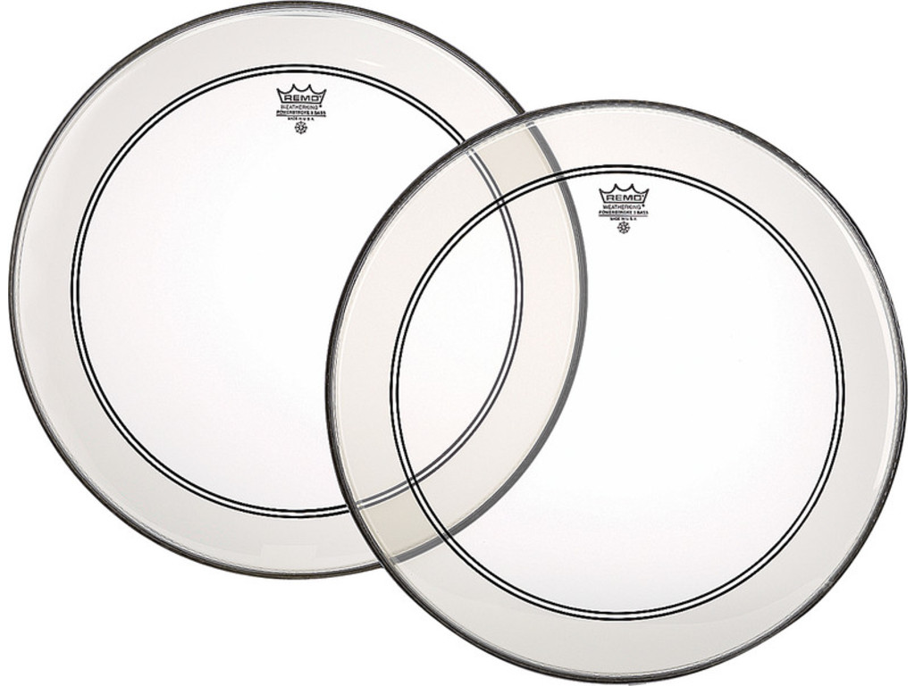 Bassdrum Fell Remo P3-1322-C2, Powerstroke 3 Clear + Dot, 1-ply 22""