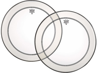 Bassdrum Vel Remo P3-1322-C2, Powerstroke 3 Clear + Dot, 1-ply 22""