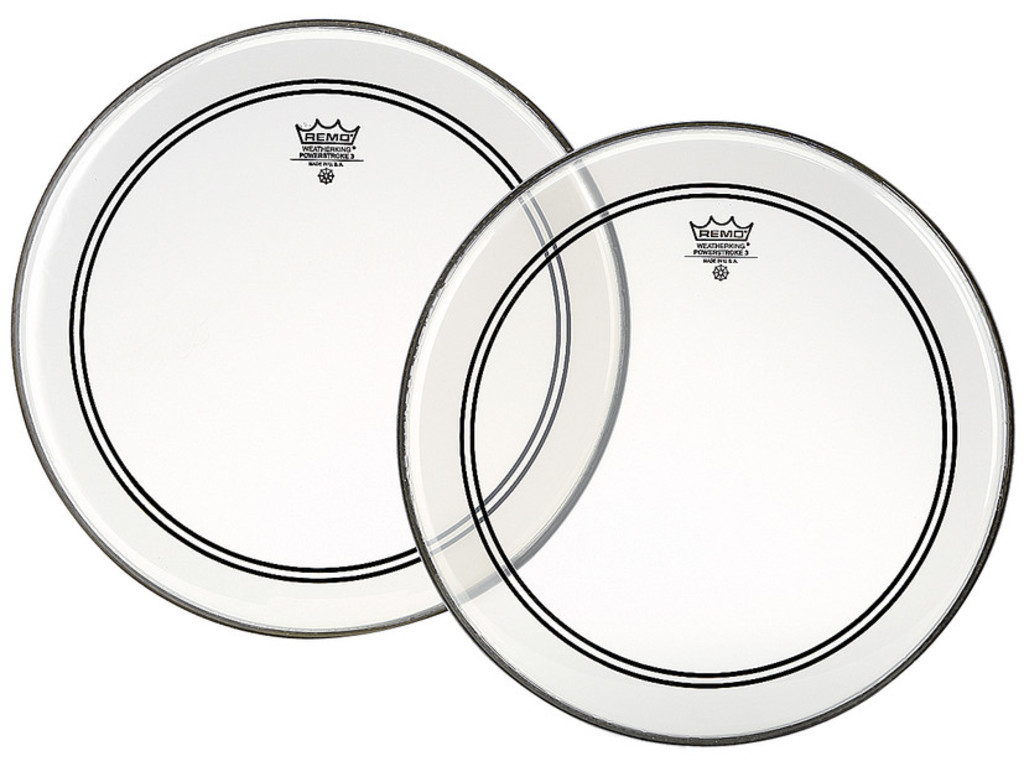 Tom / Snaredrum Vel Remo P3-0312-BP, Powerstroke 3 Clear, 1-ply 12""
