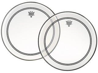 Tom / Snaredrum Vel Remo P3-0314-BP, Powerstroke 3 Clear, 1-ply 14""