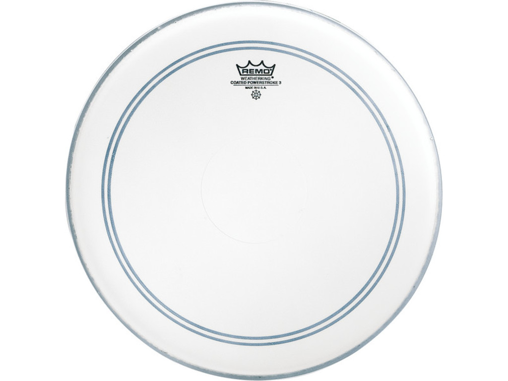 Snaredrum Vel Remo P3-0114-C2, Powerstroke 3 Coated, met clear top dot, 1-ply 14""
