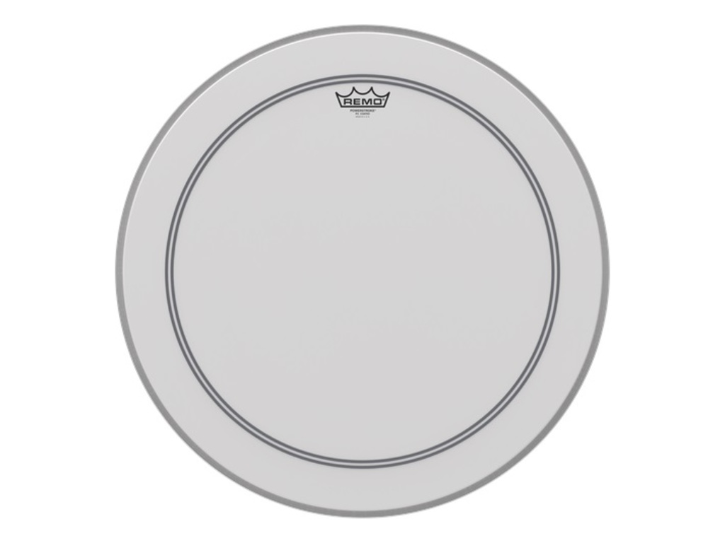 Bass Drum Head Remo P3-1122-C2, Powerstroke 3 Coated + Dot, 1-ply 22""