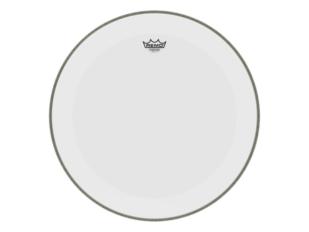 Bassdrum Vel Remo P3-1222-C1, Powerstroke 3, Smooth White + Dot, 1-ply 22""