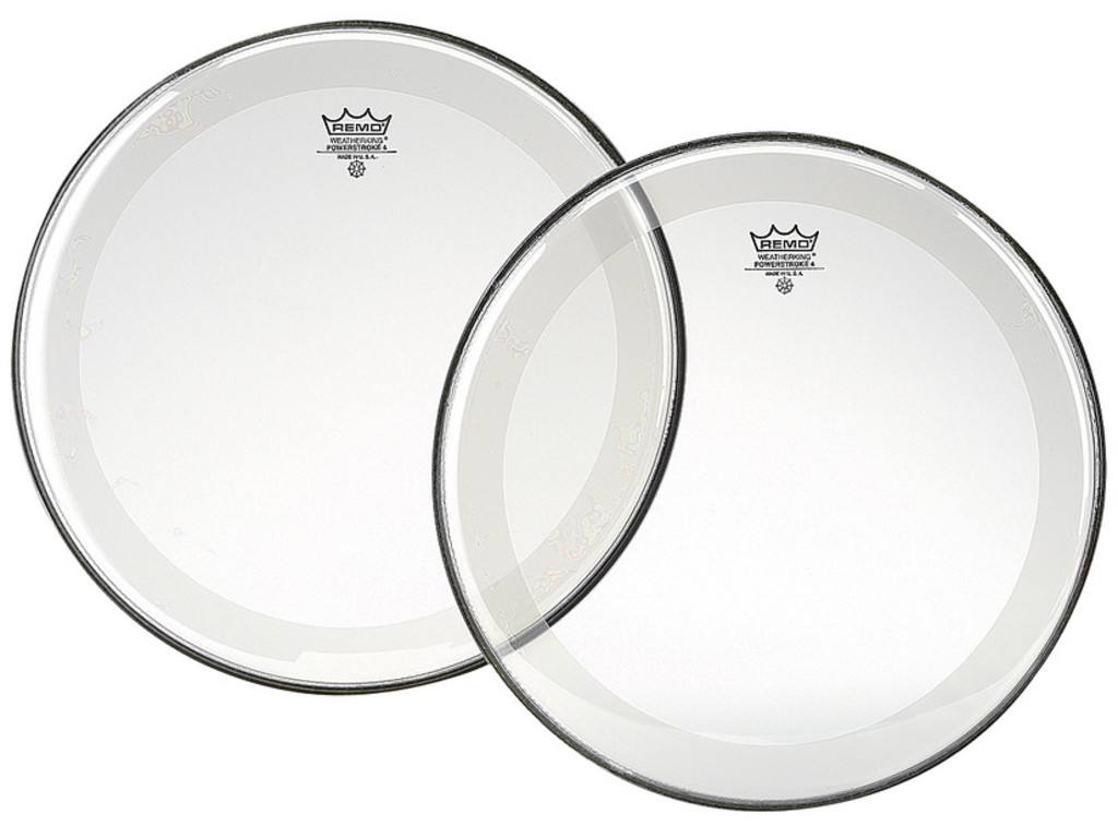 Tom / Snaredrum Vel Remo P4-0312-BP, Powerstroke 4 Clear, 2-ply 12""