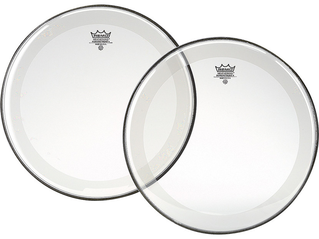 Tom / Snaredrum Vel Remo P4-0314-BP, Powerstroke 4 Clear, 2-ply 14""