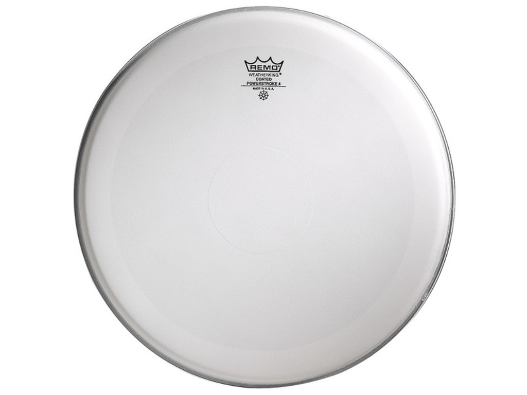 "Bassdrum Vel Remo P4-1120-C2, Powerstroke 4 Coated, 2-ply 20"", met dot"