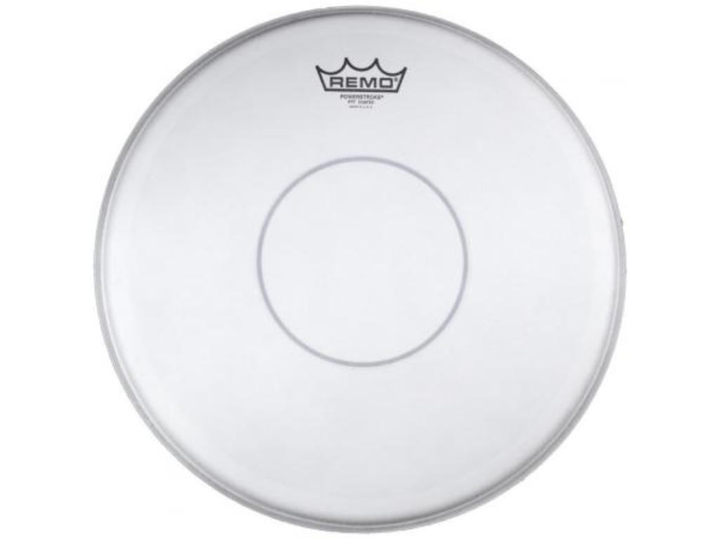 "Snaredrum Vel Remo P7-0314-C2, Powerstroke Marching Clear, 2-ply 14"", met clear dot"