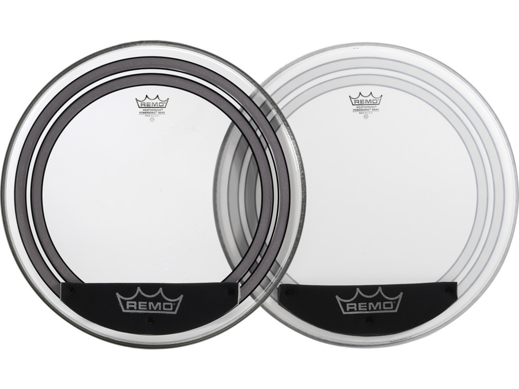 Bassdrum Vel Remo PW-1322-00, Powersonic, clear, 2-ply 22""