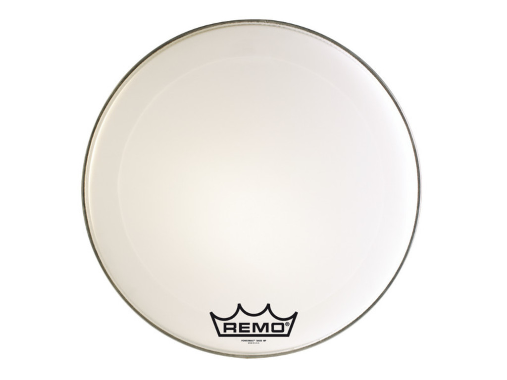 Bassdrum Vel Remo PM-1016-MP, Powermax Ultra White, Marching, 1-ply 16""