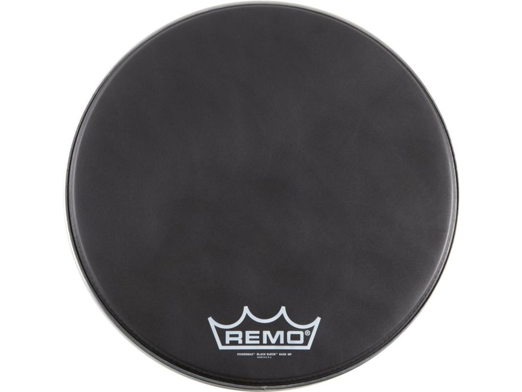 Bassdrum Vel Remo PM-1824-MP, Powermax, Black Suede, 1-ply 24""