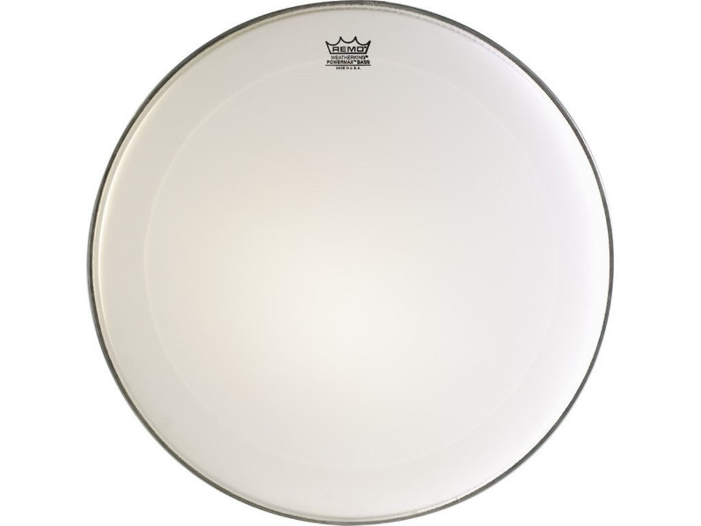 Bassdrum Vel Remo PM-1026-MP, Powermax Ultra white, Marching, 1-ply 26""