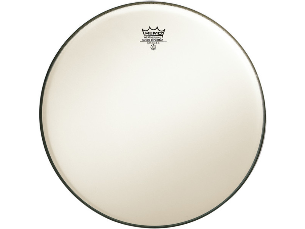 Tom / Snaredrum Vel Remo BD-0814-00, Suede Diplomat, 1-ply 14""