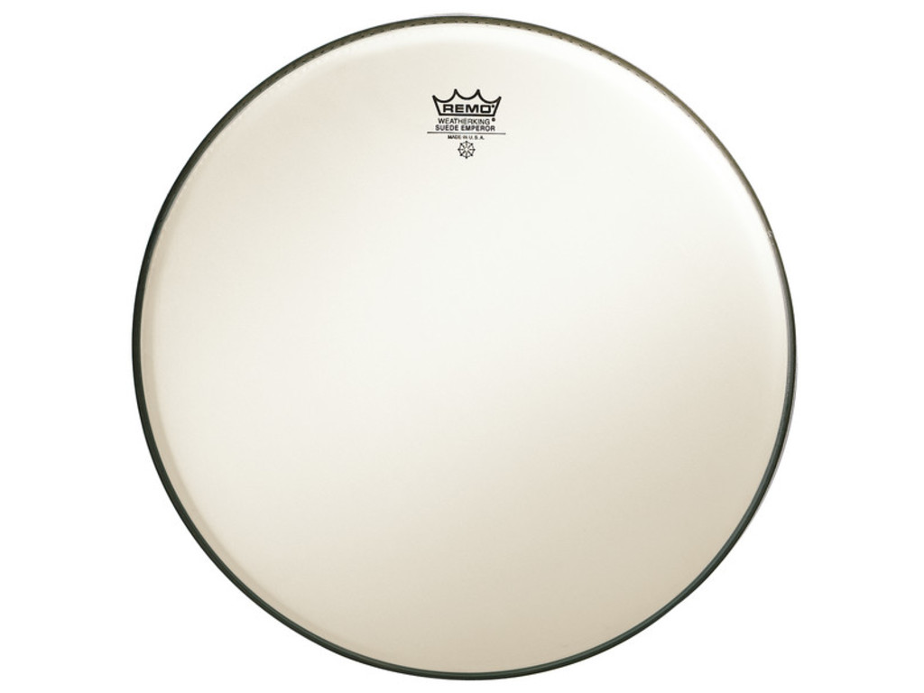 Tom / Snaredrum Vel Remo BE-0815-00, Emperor Suede, 2-ply 15""