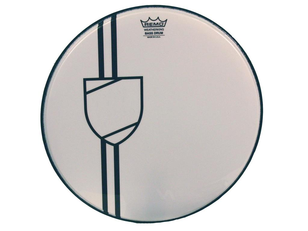 Bassdrum Vel Remo Vintage Shield Graphic, 1-ply 24""