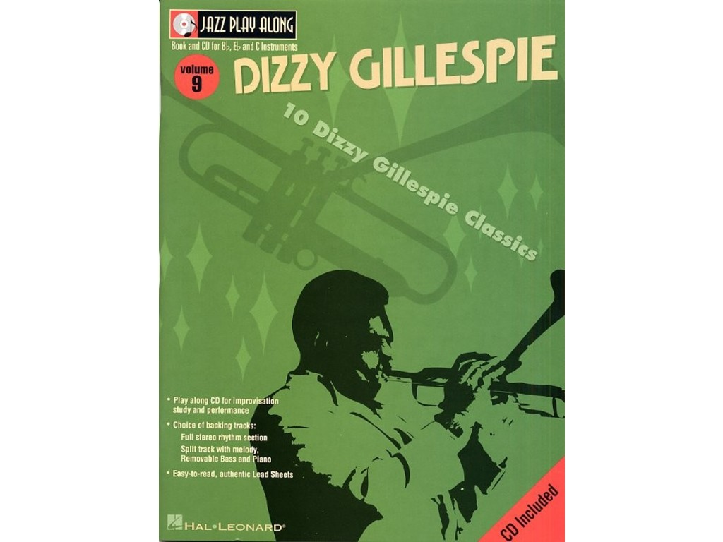Bladmuziek Jazz Play Along Volume 9 Dizzy Gillespie voor Bb instrumenten (Boek + CD)