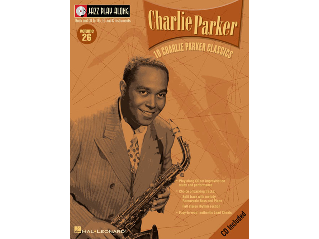 Bladmuziek Jazz Play Along: Volume 26 - Charlie Parker voor Bb instrumenten (Boek + CD)