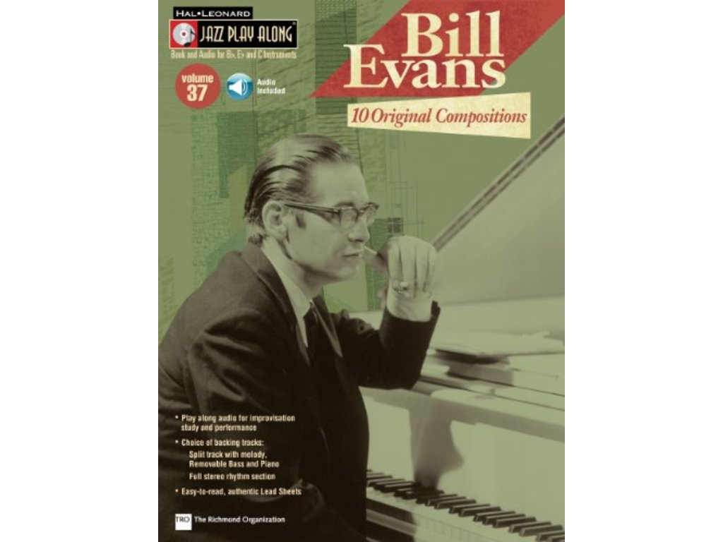 Bladmuziek Jazz Play Along Volume 37 Bill Evans voor Bb instrumenten (Boek + CD)