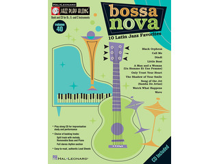 Bladmuziek Jazz Play Along Volume 40 Bossa Nova voor Bb, Eb of C instrumenten (Boek + CD)