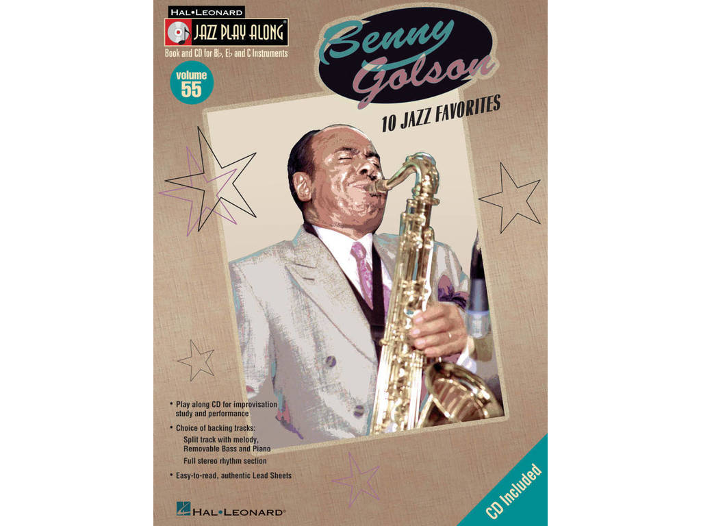 Bladmuziek Jazz Play Along: Volume 55 - Benny Golson voor Bb, Eb of C instrumenten Inst (Boek + CD)