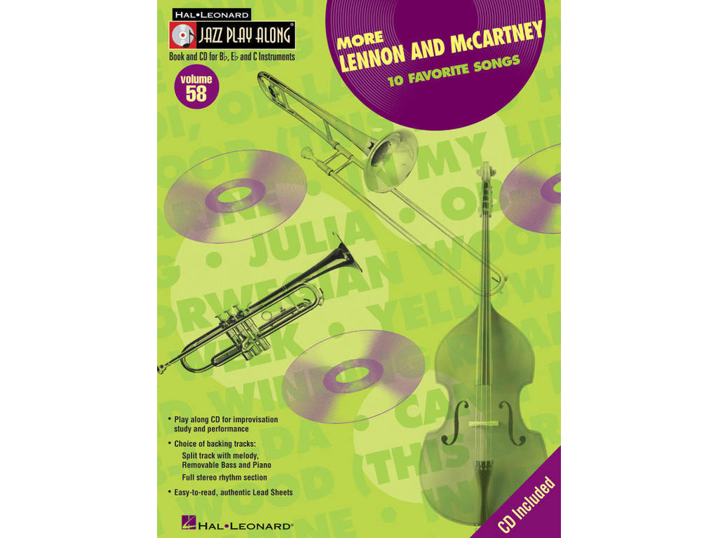Bladmuziek Jazz Play Along Volume 58 More Lennon And Mccartney voor Bb instrumenten Book