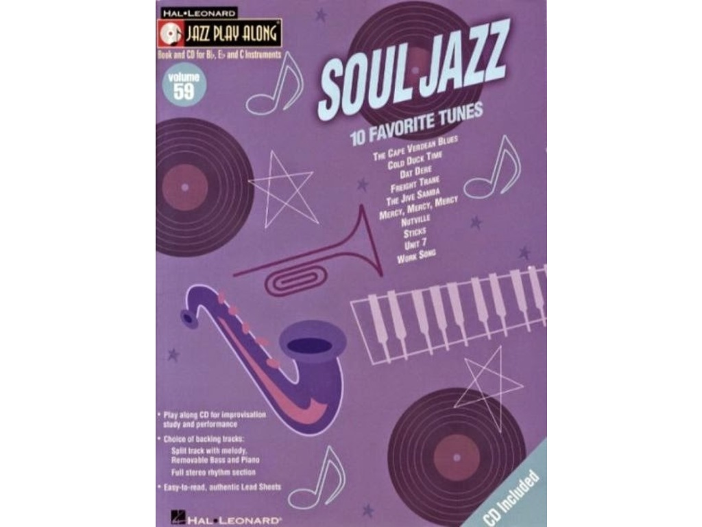 Bladmuziek Jazz Play Along Volume 59 Soul Jazz voor Bb, Eb of C instrumenten (Boek + CD)