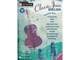 Bladmuziek Jazz Play Along Volume 72 Classic Jazz Ballads voor Bb, Eb of C instrumenten (Boek + CD)