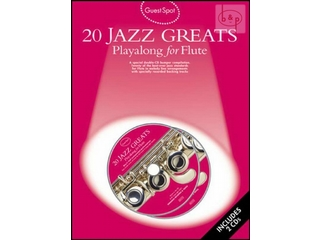 Bladmuziek Dwarsfluit 20 Jazz Greats Playalong voor dwarsfluit (Boek + 2 CD)