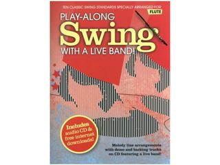 Bladmuziek Dwarsfluit Play-along Swing With A Live Band! dwarsfluit (Boek + CD)