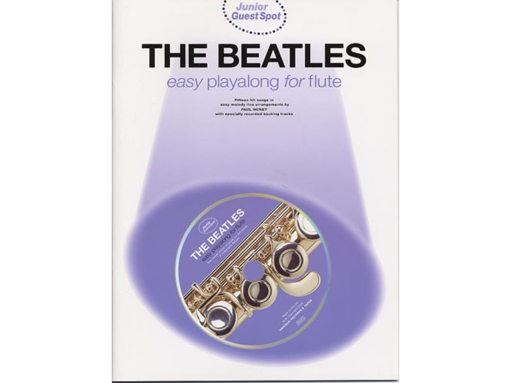 Bladmuziek Dwarsfluit The Beatles Playalong voor dwarsfluit (Boek + CD)