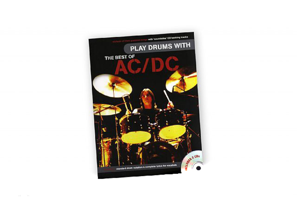 Bladmuziek Drums, Drum Along, Play Drums With The Best Of Ac/dc (boek + 2Cd's)