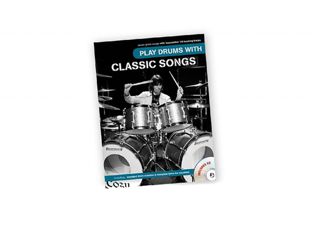 Bladmuziek Drums, Drum Along, Play Drums With Classic Songs (boek + Cd)