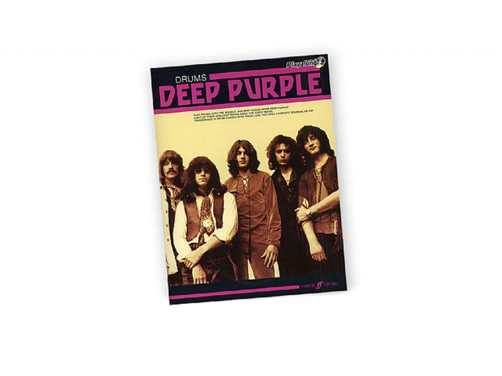 Bladmuziek Drums, Drum Along, Authentic Playalong Deep Purple (boek + Cd)