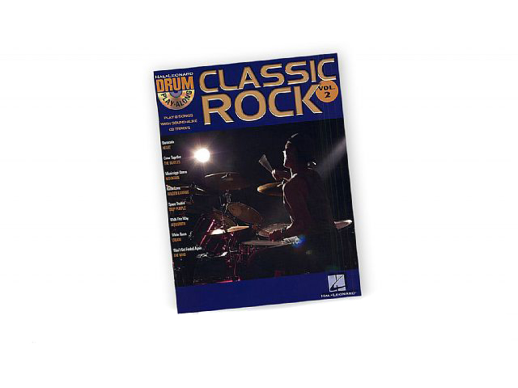 Bladmuziek Drums, Drum Along, Hal Leonard Volume 2, Classic Rock (boek + Cd)