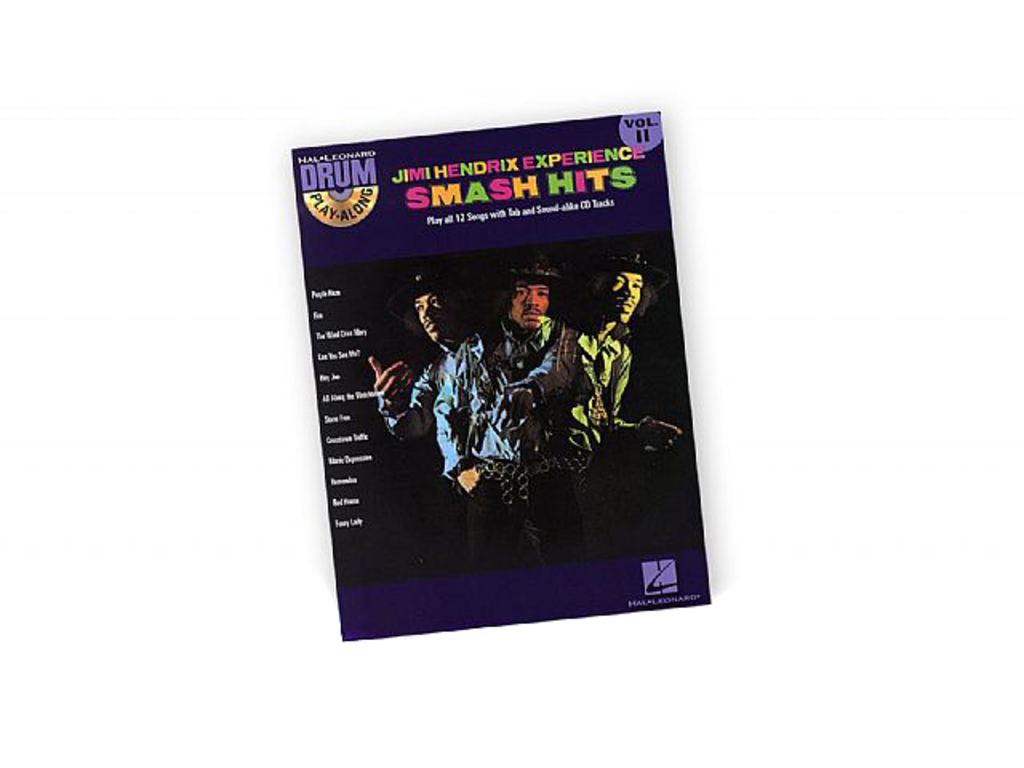 Bladmuziek Drums, Drum Along, Hal Leonard Volume 11, Jimi Hendrix Smash Hits (boek + Cd)