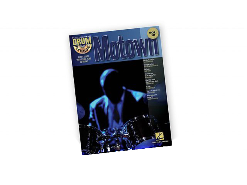 Bladmuziek Drums, Drum Along, Hal Leonard Volume 18, Motown (boek + Cd)