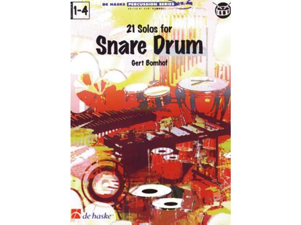 Boek Drums, De Haske, 21 Solos For Snare Drum (gert Bomhof)