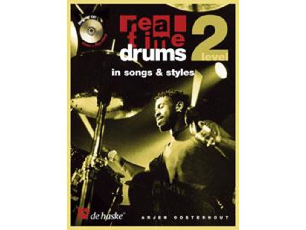 Boek Drums real time drum in Songs & Styles, level 2