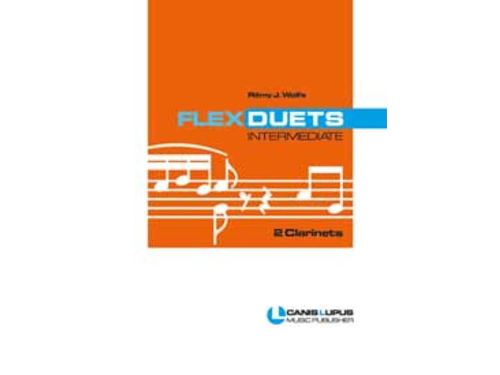 Bladmuziek Klarinet, Flex Duets, intermediate 2 Clarinets