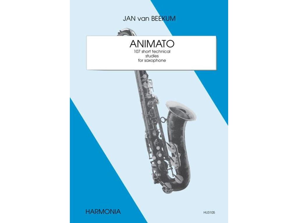 Sheet Music Saxophone, Jan from Beekum, Animato 107