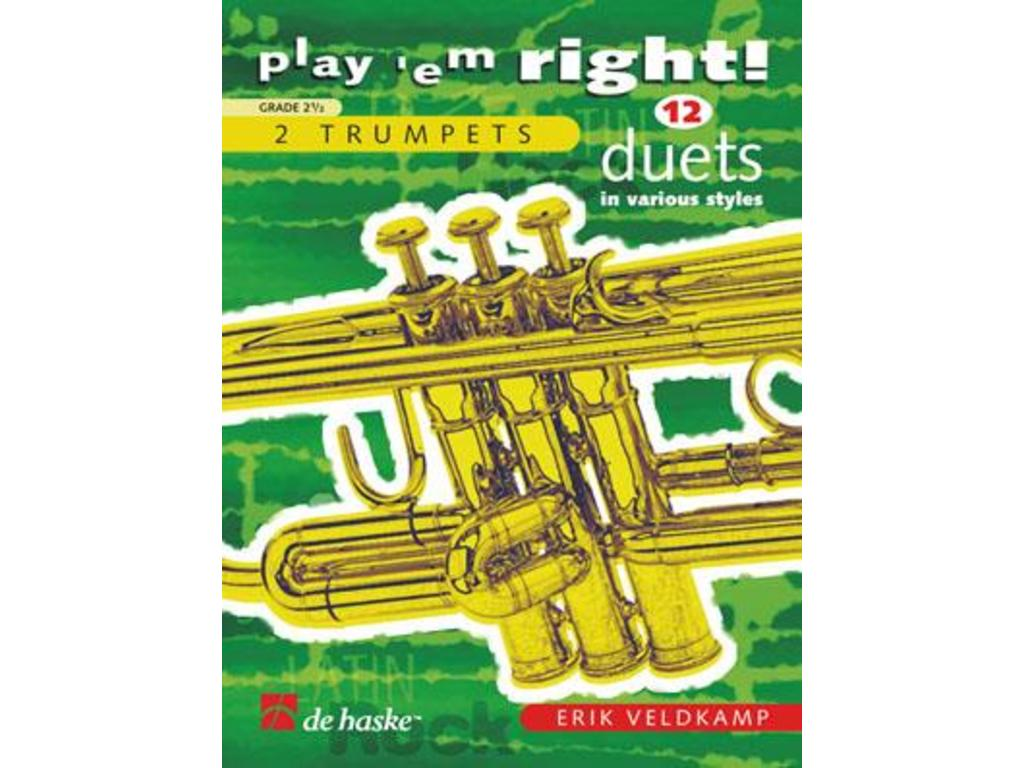 Bladmuziek Trompet, Play 'em Right, 12 duetten voo buy, order or pick-up?  Best prices!