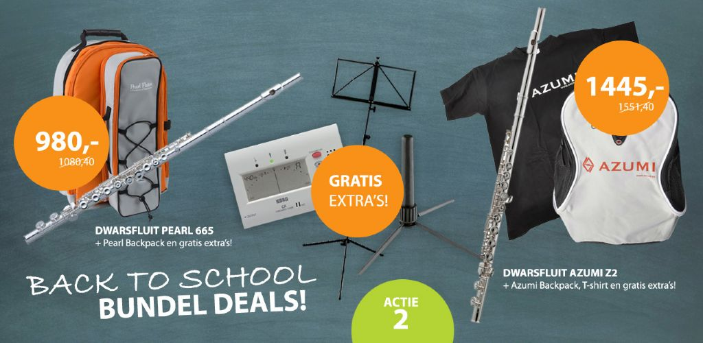 Back to School Pearl / Azumi Fluit Bundel Deals!