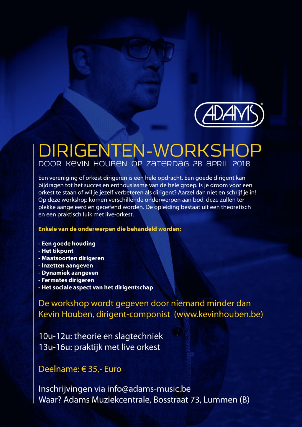 DIRIGENTEN-WORKSHOP door Kevin Houben op zaterdag 28 april 2018