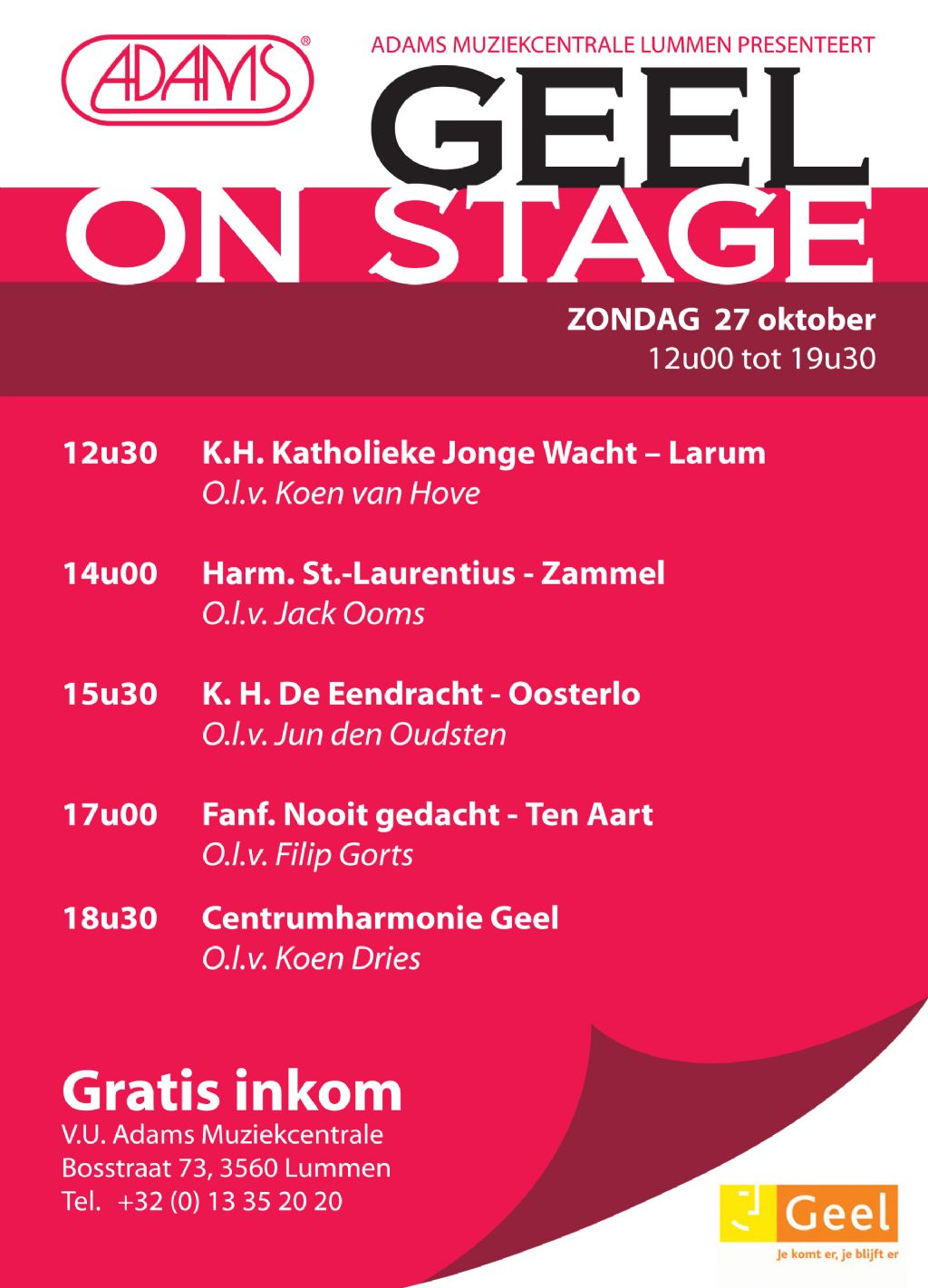 Geel On Stage