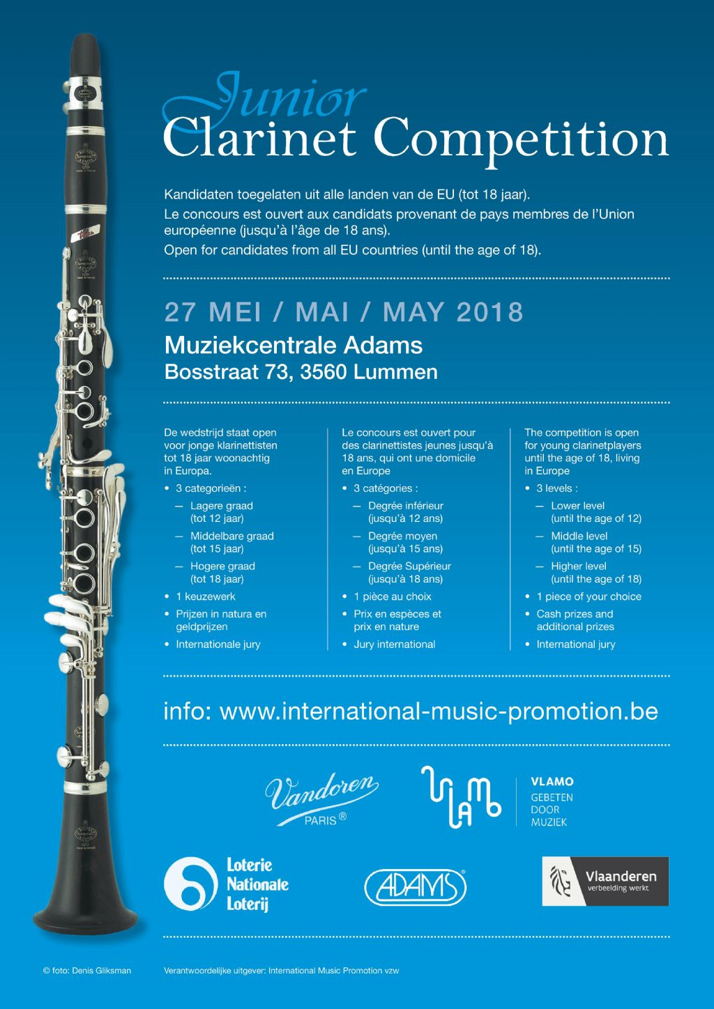 Junior Clarinet Competition 2018 bij Adams Lummen