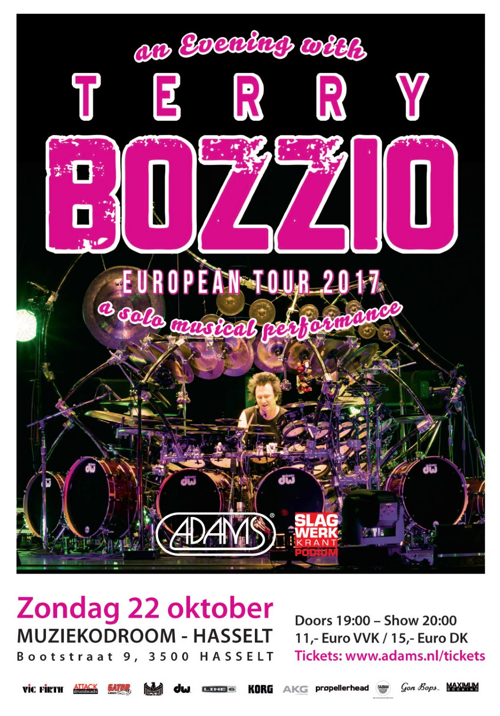 An Evening with TERRY BOZZIO European Tour 2017